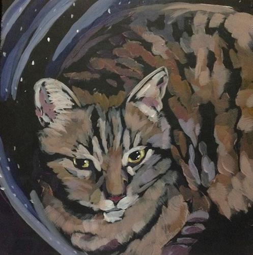 """March 2, Nigel in a Pot"" original fine art by Kat Corrigan"
