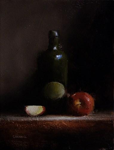 """Green Bottle"" original fine art by Neil Carroll"