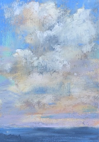 """Focused Practice...Cozumel Clouds"" original fine art by Karen Margulis"