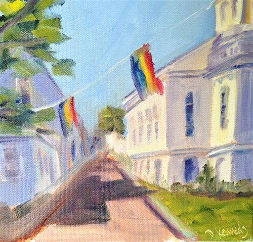 """P-Town Library"" original fine art by Debra Kennedy"