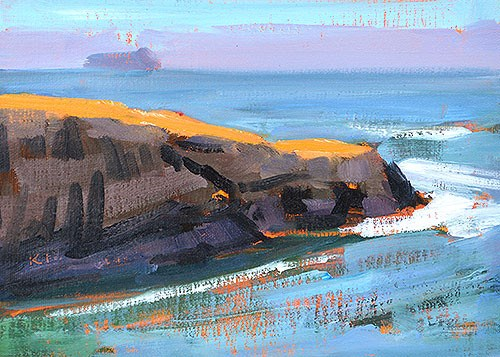 """Sunset Cliffs, Ocean Beach"" original fine art by Kevin Inman"