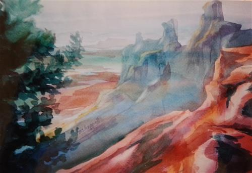 """Mighty Canyon"" original fine art by Becky Chappell"