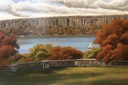 """Palisade Dreams and Hudson River"" original fine art by Jamie Williams Grossman"