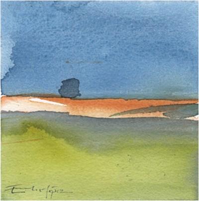 """paisaje 117"" original fine art by Emilio López"