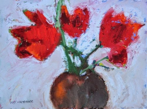 """Abstracted Tulips, Contemporary Floral Paintings by Arizona Artist Amy Whitehouse"" original fine art by Amy Whitehouse"