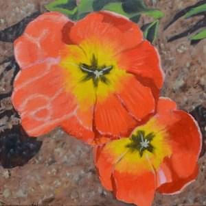 """Two Tulips"" original fine art by Robert Frankis"