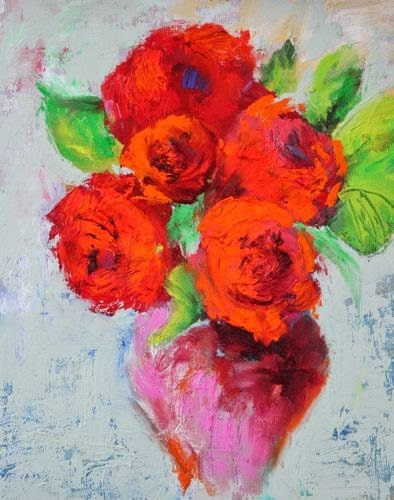 """Fresh Flowers, Contemporary Floral Paintings by Arizona Artist Amy Whitehouse"" original fine art by Amy Whitehouse"