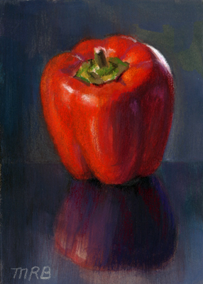 """Red Pepper"" original fine art by Mary Rochelle Burnham"