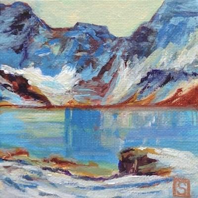"""4091 - Arthur's Lake - Mini Master"" original fine art by Sea Dean"