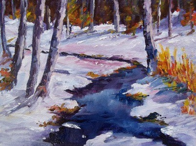 """Destination: Sugar Creek I"" original fine art by Alice Harpel"