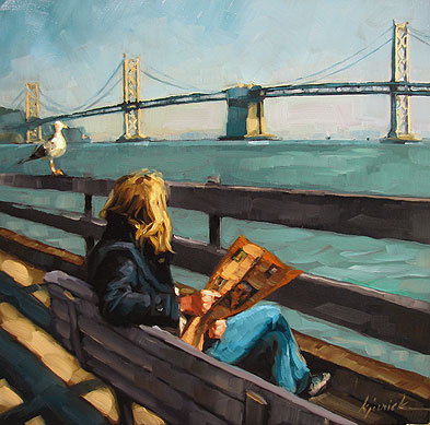 """San Francisco - the Perfect Gift Idea"" original fine art by Karin Jurick"