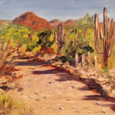 """Trail Walk"" original fine art by Debra Kennedy"
