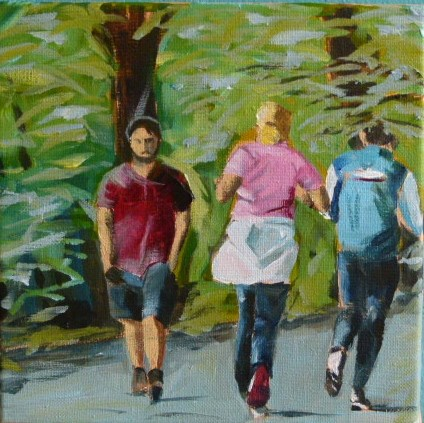 """Jogger am Schlachtensee in Berlin"" original fine art by Sabine Hüning"