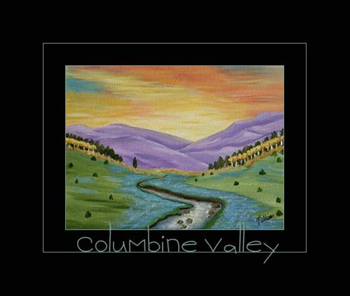 """""""Columbine Valley by Sunny Williams"""" original fine art by Sunny Williams"""