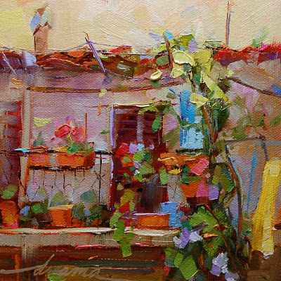 """At Home in Italy SOLD"" original fine art by Dreama Tolle Perry"