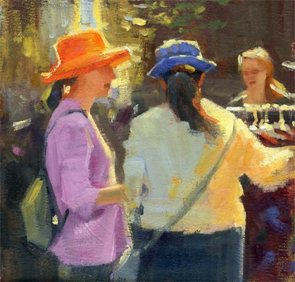 """Hats"" original fine art by Kathy Weber"
