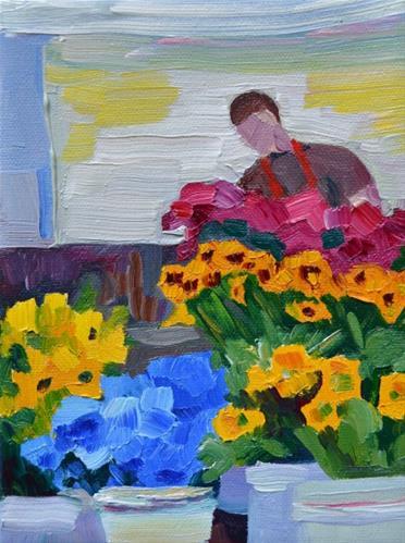 """Fresh Flowers"" original fine art by Loralee Chapleau"