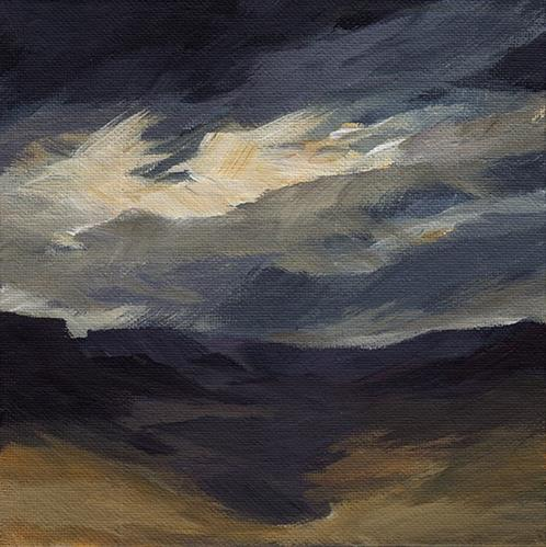 """Wild Sky"" original fine art by J M Needham"