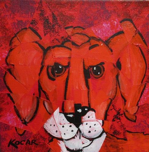 """Red Dog"" original fine art by George Kocar"