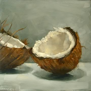 """Cracked Coconut"" original fine art by Michael Naples"