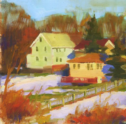 """Houses on the Parkway"" original fine art by Kathy Weber"