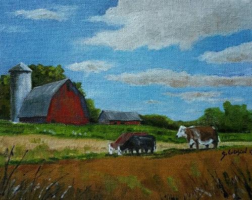 """Al Smith's Farm"" original fine art by Steve Gibson"