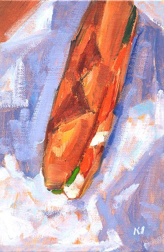 """""""Italian Sandwich"""" original fine art by Kevin Inman"""