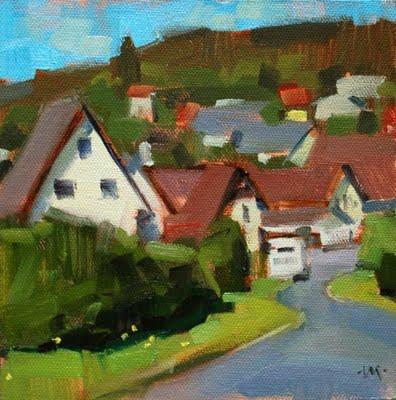 """German Neighborhood"" original fine art by Carol Marine"