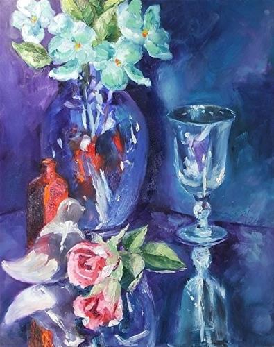 """Stand Alone, 11 x 14 Oil, Still Life"" original fine art by Donna Pierce-Clark"