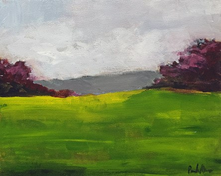 """Purple and Green"" original fine art by Pamela Munger"