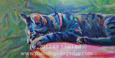 """Sleeping Beauty"" original fine art by Kimberly Santini"