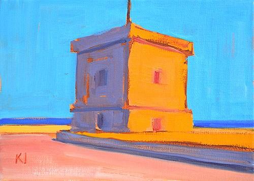 """Montjuïc Castle"" original fine art by Kevin Inman"