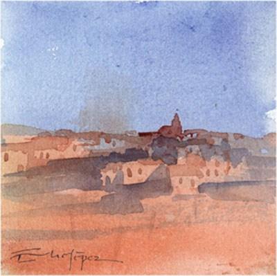 """paisaje 153"" original fine art by Emilio López"