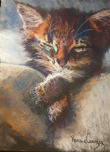 """Kitten"" original fine art by Rentia Coetzee"