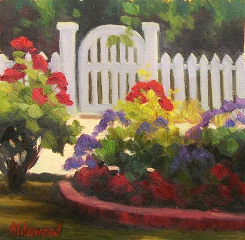 """Garden Gate"" original fine art by Sherri Aldawood"