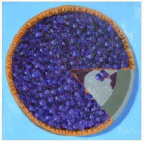 """Blueberries and Watermelon"" original fine art by Bobbi Heath"
