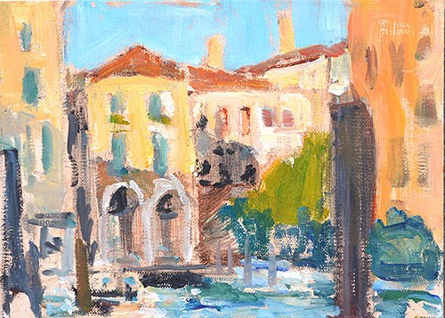 """On a Dock, Venice"" original fine art by Kevin Inman"
