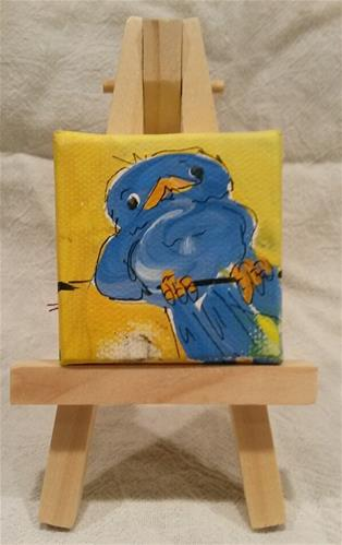 """Itty Bitty Bluebird"" original fine art by Terri Einer"