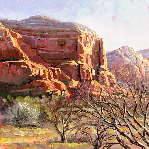 """Sedona Morning"" original fine art by Lesley Spanos"