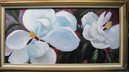 """Magnolias This Season floral,Barbara Haviland"" original fine art by Barbara Haviland"