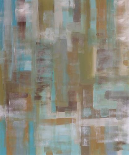 """Faded Gray Green"" original fine art by Angele Sage"