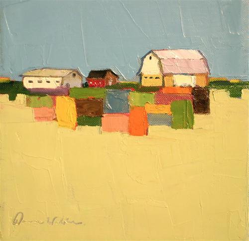 """Quilted Land"" original fine art by Donna Walker"
