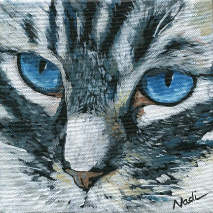 """Cat Eyes"" original fine art by Nadi Spencer"