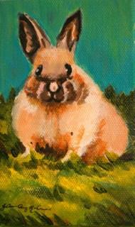 """""""Siamese Bunny"""" original fine art by JoAnne Perez Robinson"""