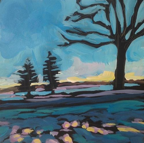 """Two Pines, Lake Calhoun"" original fine art by Kat Corrigan"