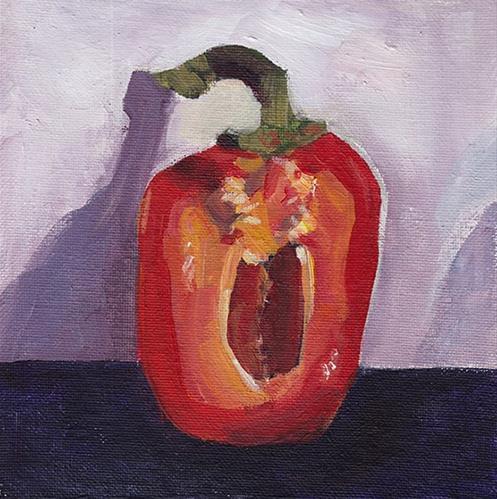 """Pepper Portrait"" original fine art by J M Needham"