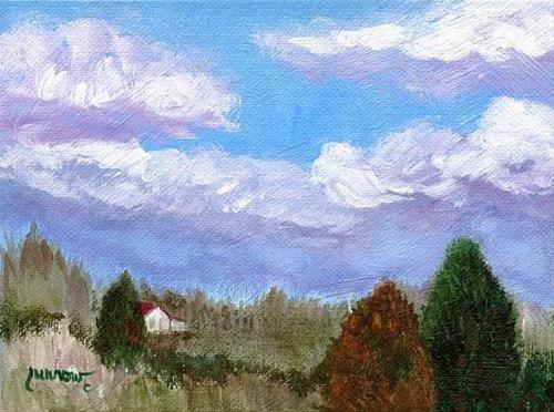 """ORIGINAL PAINTING 'THE VIEW FROM GOOSE CREEK'"" original fine art by Sue Furrow"