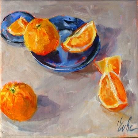 """Oranges"" original fine art by Evelyne Heimburger Evhe"