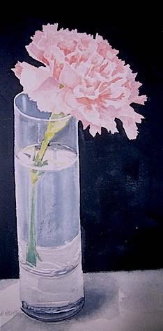 """Small Study in Pink"" original fine art by Gloria  Nehf"