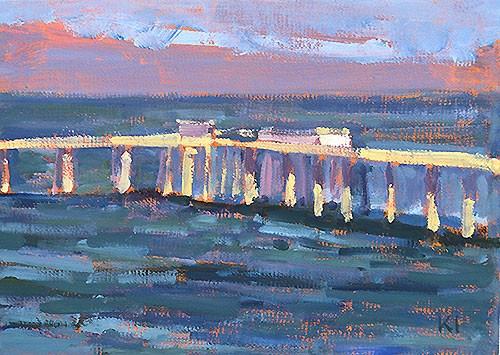 """Ocean Beach Pier, aka Misty's Home"" original fine art by Kevin Inman"